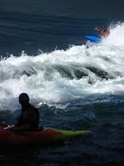 Skookumchuck Adventures (maplemusketeer) Tags: ocean sunshine standing coast whitewater bc pacific wave rapids kayaking skookumchuck narrows egmont maplemusketeer
