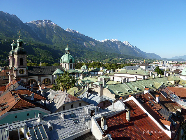 Overlooking the Innsbruck rooftops