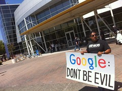 #googlerally Don't be evil @google #NetNeutrality
