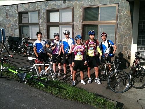 旭川医科大学サイクリング部の皆さん