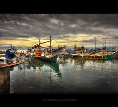 Parking Area | HDR (rev_adan) Tags: sea fish water colors clouds port boats boat big south philippines wharf saturation gb hdr pinoy hdri banka mindanao gensan bisaya