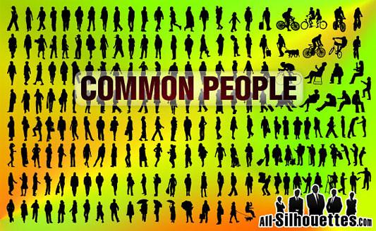 Click en la imagen para descarga 200 Siluetas en formato vector - Personas