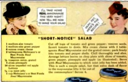 Short Notice Salad Detail Life Sept 29 1941