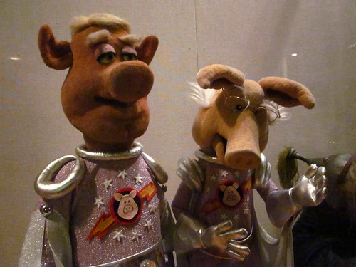 Pigs in Space puppets.