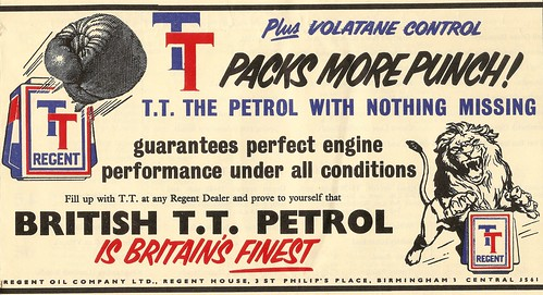 "Regent ""TT"" British petrol advert - 1954 by mikeyashworth"