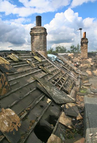 Roof tiles all stolen