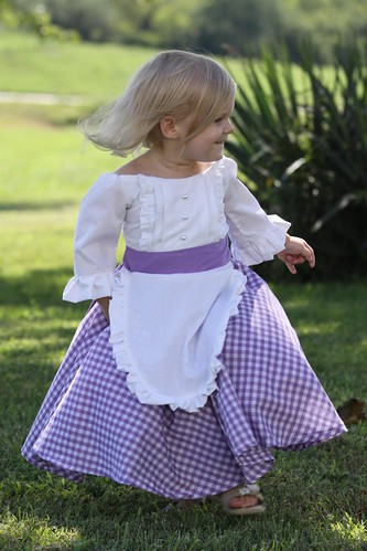 Colonial or Prairie Dress Tea Party Apron Ruffles