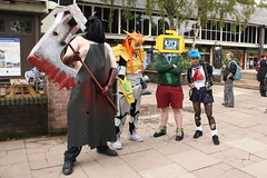 Cosplayers (NekoJoe) Tags: england geotagged cosplay unitedkingdom deadleaves retro unknown cosplayers keele gbr amecon amecon2010 geo:lon=227117658 geo:lat=5300203037