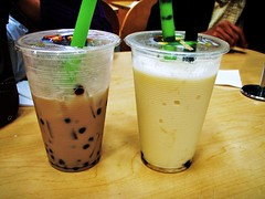 08 - taro and durian boba tea (bubble tea)
