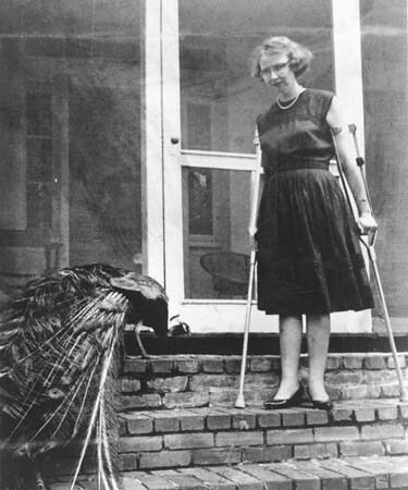 Flannery O'Connor and peacock 2