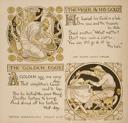 Avarus et Aurum Eius; Ova Aurea