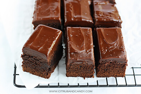 Chocolate Gingerbread Bars with Ginger Wine Ganache - Citrus and Candy