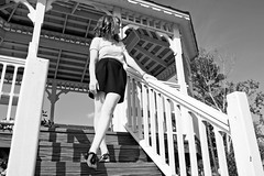 Don't Look Back (brooke .) Tags: wood trees sky blackandwhite white black stylin love beautiful smile leaves jessie smiling shirt clouds outside outdoors happy mine pretty peace yeah sweet sandals branches steps happiness curls rail yay skirt gazebo redhead woohoo dontlookback rhea hollister woodsy justdance 1corinthians13 woodly godisgreat taylorswift themaine ohmyyyyy lovelikecrazy