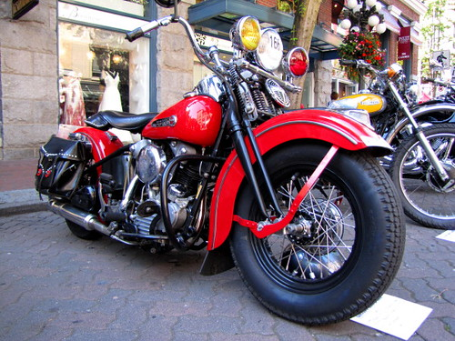 1947 Harley-Davidson Knucklehead, Gastown Motorcycle Show n' Shine 2010 Had Hell Angels and Bike Enthusiasts Ogling