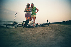 57/365 Me `n` ma lady, haha (Laine Apine) Tags: elina girls friends selfportrait green film me bike myself seaside ride purple sweet grain ishootfilm together filmcamera myday twogirls ilovefilm afterashoot