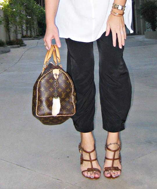 louis vuitton speedy bag+rabbits foot+LAMB studded heels+Hem Gems