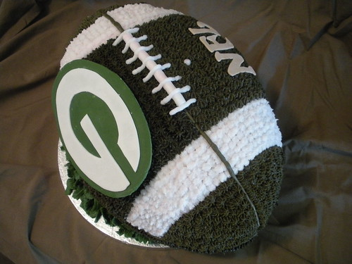 Green Bay Packers 3-D Football Cake by Wolfbay Cafe