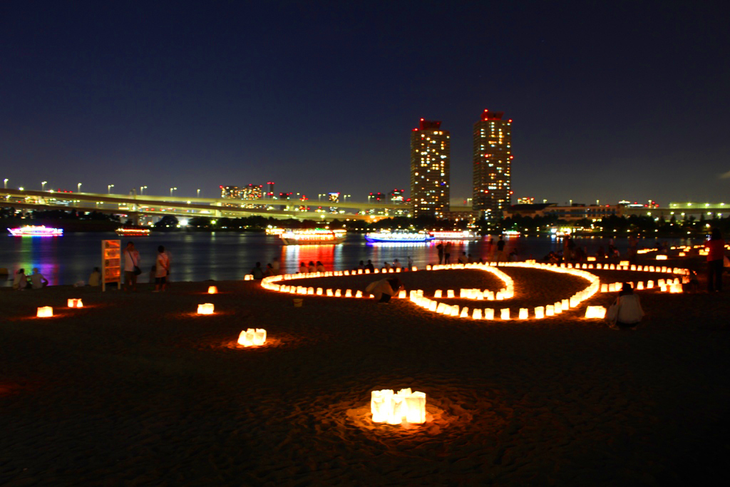 Paper Lantern Festival in Odaiba 2010 (2)
