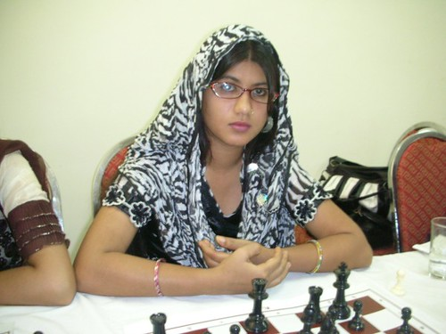 Aymen Shakir A member of Pakistan Women National Chess Team