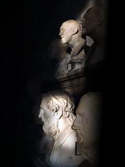Philosophers (EK_Chops) Tags: light italy sculpture rome roma museum ancient italia shadows roman statues bust heads philosophers capitolinemuseum emperialart