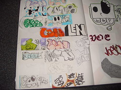 Random stickers and sketches (Nerfoner_13) Tags: graffiti peace leno vents blackbook voe nerfoner voeone