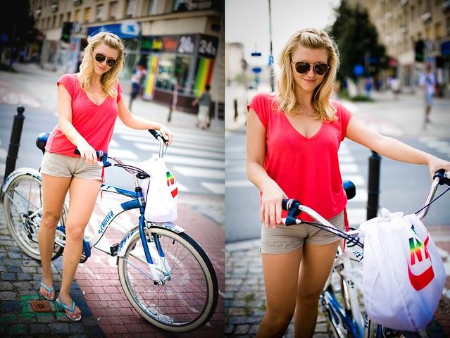 Warszawa Rowerowa - Warsaw Cyclists - Daria - krakowianka w Warszawie