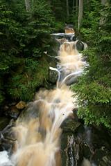 Jezern potok (Katka S.) Tags: park green nature water forest flow waterfall stream long exposure unesco national reservation umava potok jezern