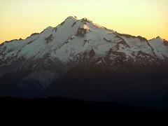 Glacier at sunset