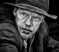 The Solitary Stare of the Homeless (Mark L Edwards) Tags: london candid homeless stare despair coventgarden solitary dapagroupmeritaward4 gnpc markledwards