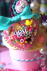 Let Them Eat Cake Cameo Resin Heart Pendant - Cupcake and Candy Sprinkles Glitter Resin Necklace (athinalabella1) Tags: pink paris cute glass yellow cake marie glitter hearts french costume spring yummy rainbow ribbons colorful neon yum candy heart princess sweet kitsch funky jewelry mama pop pearls sugar ring lolita cupcake fantasy bakery bow kawaii valentines cameo glam antoinette ribbon chic bling sweethearts etsy dots lollipop licorice drama suga tulle couture bows marieantoinette parisian gumballs whimsical frilly conversationhearts pedestal neovictorian shabby frou girlygirl cupcakesprinkles confettisprinkles athinalabella