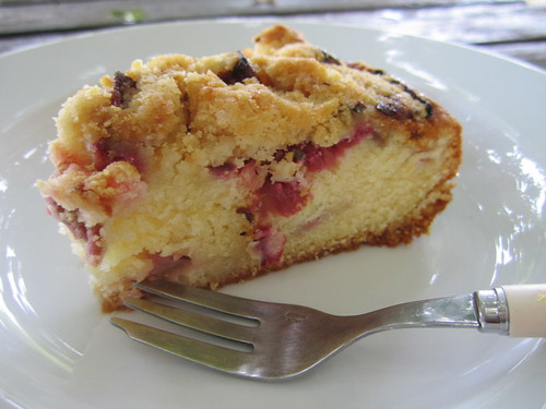... rhubarb cake recipe cake 4 rhubarb almond and pour cake mix over