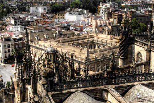 Seville. Archivo de indias from the Giralda. Sevilla. El Archivo de Indias desde la Giralda