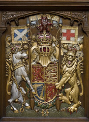 The Royal Arms of Scotland (Lawrence OP) Tags: wood scotland carved edinburgh heraldry cross