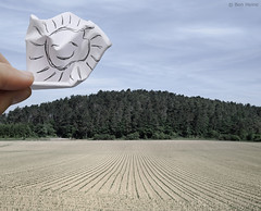 Pencil Vs Camera - 31 (Ben Heine) Tags: camera trees light wallpaper sky sun inspiration art nature smile composition forest poster landscape photography lights freedom soleil countryside vanishingpoint focus funny energy escape hand belgium cloudy drawing earth lumire modernart space air horizon main fingers perspective creative atmosphere oxygen ciel libert smiley simplicity terre imaging conceptual breathe sunrays copyrights simple paysage sourire zon emptiness fort emoticon ecosystem vide vibration soce rochefort luminosity vrijheid theartistery crumpledpaper pointdefuite rayonsdesoleil benheine minimailist papierfroiss flickrunited samsungnx10 pencilvscamera benheinecom