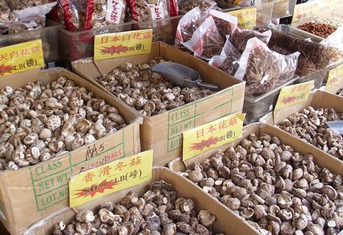 Mushrooms in Chinatown
