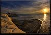I'm back... (Dave the Haligonian) Tags: ocean sunset sea sun lighthouse canada canon coast bravo rocks novascotia atlantic fisheye tokina shore maritime 7d granite peggyscove imback 1017mm img1788 copyrightallrightsreserved davidsaunders davethehaligonian