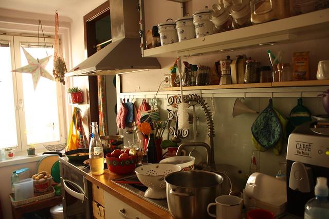 So sieht die Küche nach einem Familienwochenende aus : )