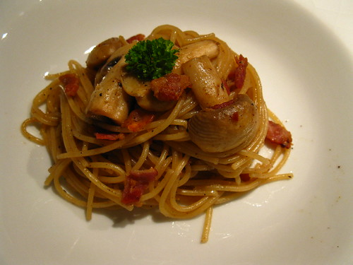 Aglio Olio with Mushrooms