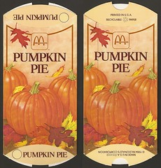 1984 McDonald's Pumpkin Pie box (daniel85r) Tags: mcdonalds 80s vintagepackaging