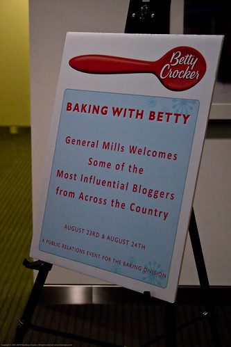 Baking with Betty event at General Mills