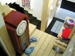 Flur unten.04 (Brixe63) Tags: house kitchen bathroom keller bedroom lego furniture bad haus livingroom diningroom mbel kche cellar wohnzimmer schlafzimmer einrichtung kinderzimmer badezimmer esszimmer childsroom