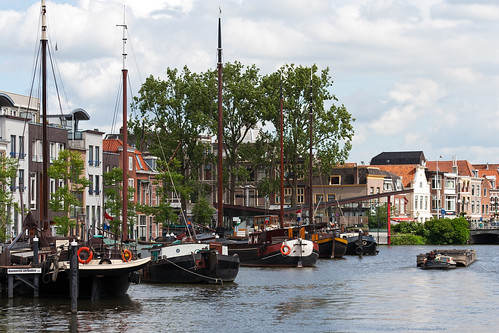 Leiden harbour Holland