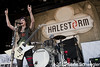 Halestorm @ Rockstar Energy Uproar Festival, First Midwest Bank Amphitheatre, Chicago, IL - 08-21-10