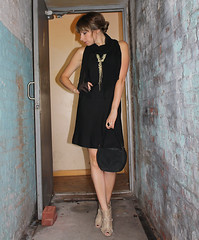 LBD (Nickie_Sixx) Tags: linen lbd blackdress dailyoutfit vintagepurse