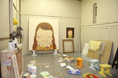 Yoshitomo Nara: Open Studio (Asia Society) Tags: art japan paintings exhibition yoshitomonara asiasociety nobodysfool japaneseartist artsandculture asiasocietymuseum