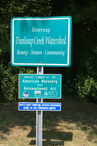 The Dunloup Creek Watershed Voluntary Floodplain Buyout Project received ARRA funding in January 2010.