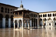 Within the Ummayad Mosque (onarticus) Tags: bokeh hijab mosque depthoffield dome syria shia muharram calligraphy nikkor bibi damascus zainab masjid ummayad nikkon imamali ahlulbayt zaynab ziyarat d5000 arbaeen zainabiya karabala baagesaghir
