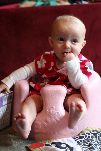 A break from reading in the Bumbo