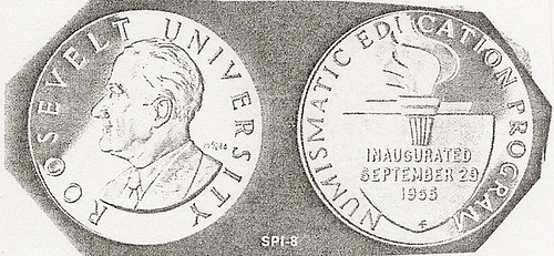Roosevelt University Numismatics Course medal