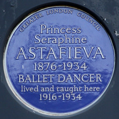 Photo of Seraphine Astafieva blue plaque